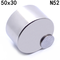 1pcs Neodymium Magnet 50x30 Mm Gallium Metal Super Strong Magnets 50 30 Round Neodimio Magnet Powerful