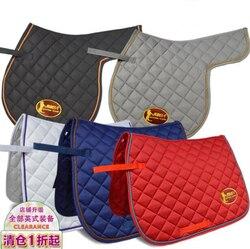 Almofada de sela britânica, kits de suor equestre, sarja de algodão, almofadas de sela, almofadas de algodão tipo sela quadrada.