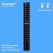 Фотография Strip Thermometers, 4-28 C, with Sticker on the backside, 1,000pcs/lot, Free Shipping by DHL