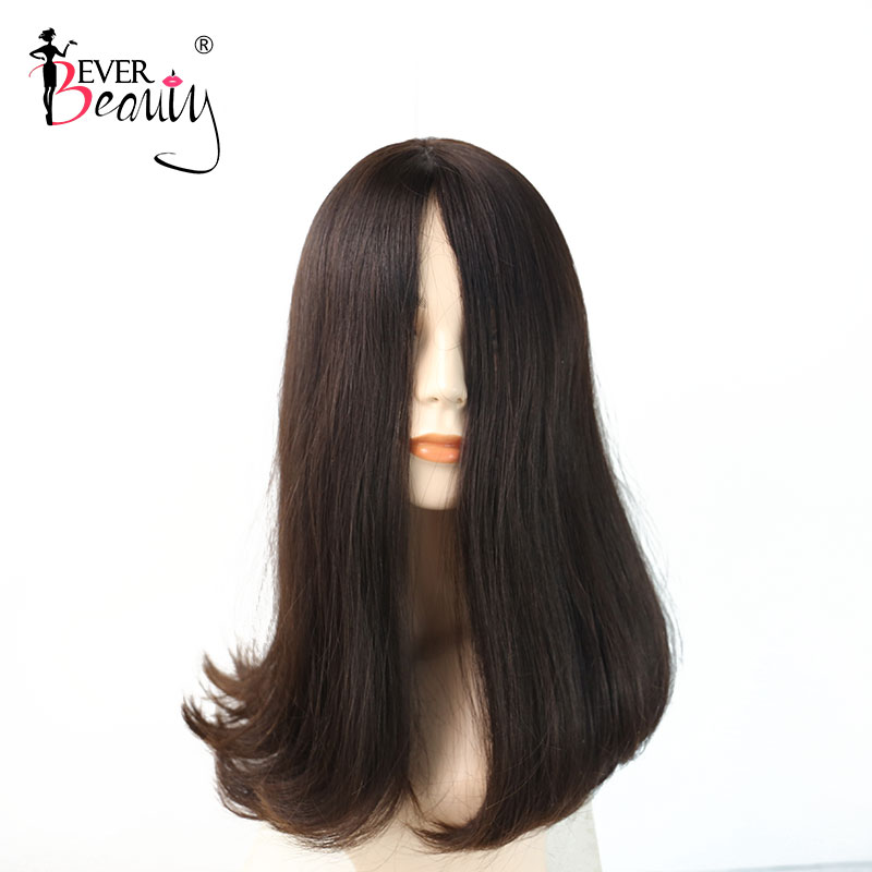 Jewish Wig Kosher Wigs European Hair Wig Natural Straight Human Hair #4 Color Wigs For Women Double Drawn Ever Beauty Remy Hair