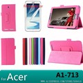 Tab 7 a1-713 soporte litchi pu leather case cubierta para acer iconia tab 7 a1-713 7.0 tablet case + screen protectors