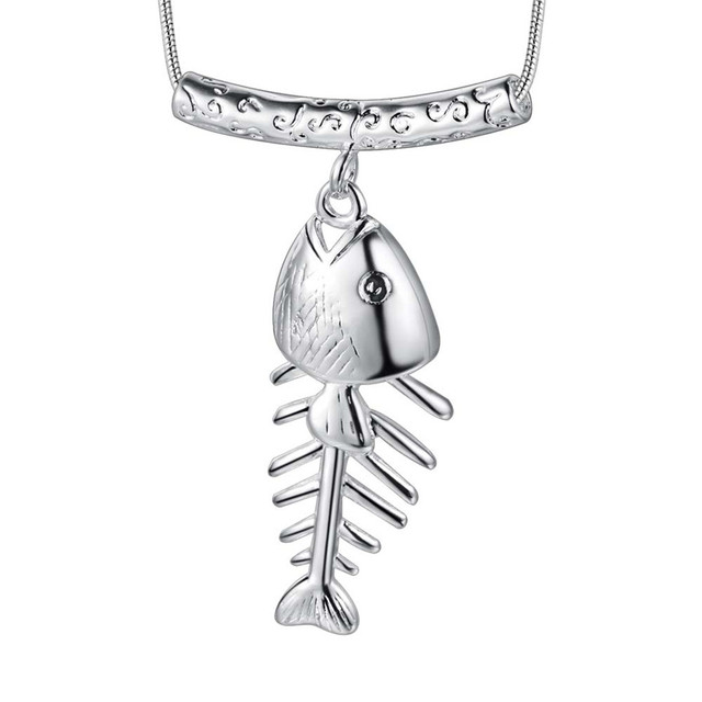 2016 new design silver fish pendant necklace cool neutral style 2016 new design silver fish pendant necklace cool neutral style charm jewelry top quality unisex global aloadofball Image collections