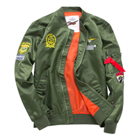 2017 High Quality Ma1 Army Green Tactical Military varsity Flight Windbreaker Pilot US Air Force Bomber Jacket Couples dress