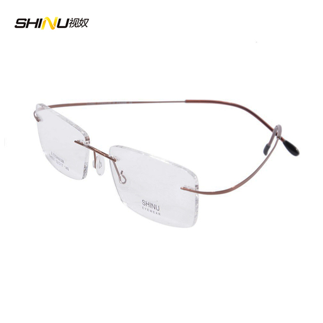 Sin montura gafas de marco mujeres marco ultraligero gafas de Titanio marco marcos gafas de negocios sólo 9G SH021