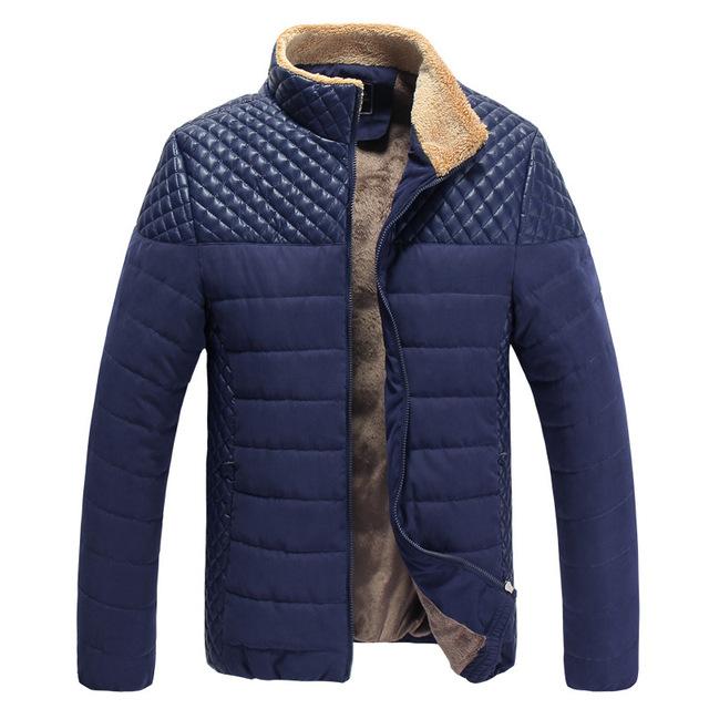 Hombres clásicos de La Moda Caliente Chaquetas Más El Tamaño L-4XL Patchwork Plaid Diseño Joven Hombre Casaul Abrigos de Invierno