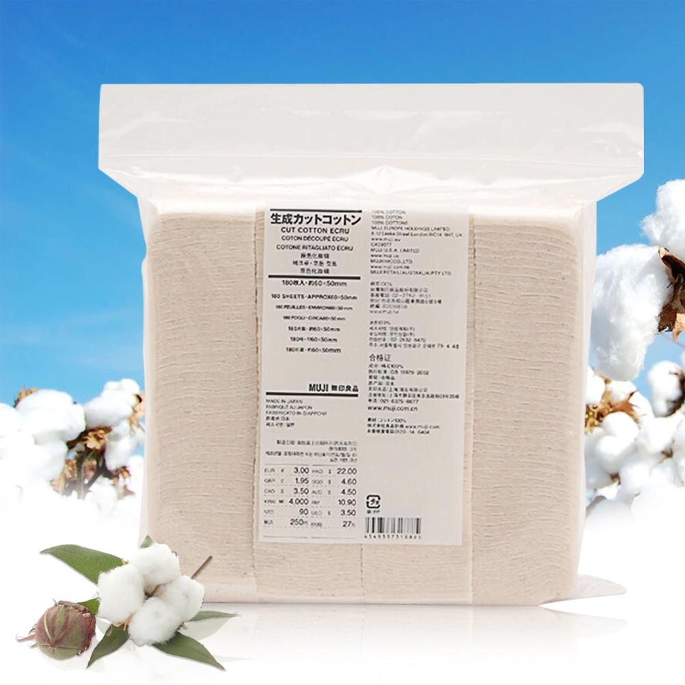 Original Japanische Organic Baumwolle MUJI 180Pcs Riesige Dampf Eletronic Zigaretten Vape Baumwolle Für RDA RBA DIY Zerstäuber Spule Docht