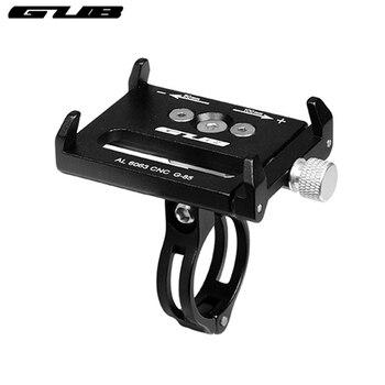 """Gub G-81G-85 Metalen Anti Slide Fiets Mobiele Telefoon Houder Motorfiets Stuurpen Clip Stand Past Voor 3.5 """" - 7.5"""" Smartphones"""