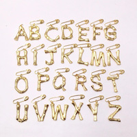 Famous brand jewelry A B C D E F G H E J K L M N O P Q R S T U V W X Y Z 26 letter brooch gold copper alphabet brooches