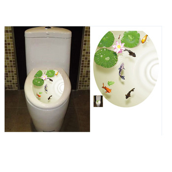Toilet Stickers Wall Decorations WC Waterproof 3D Vinyl Pedestal Pan Cover Toilet Stool Commode Lid Sticker Bathroom Home Decor Туалет