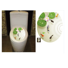Toilet Stickers Wall Decorations WC Waterproof 3D Vinyl Pedestal Pan Cover Toilet Stool Commode Lid Sticker Bathroom Home Decor