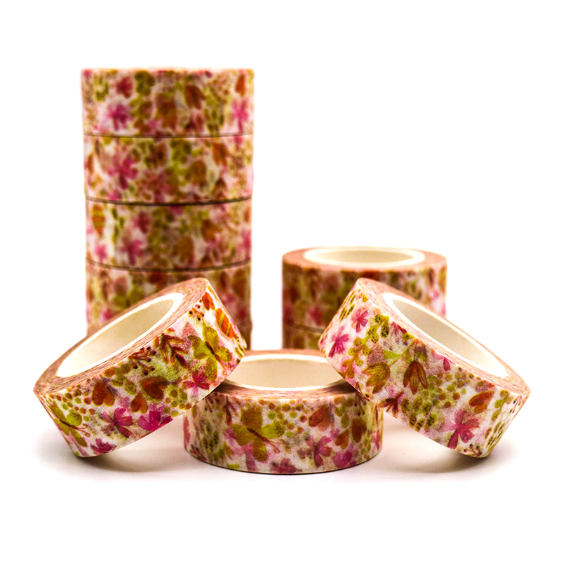 10m*15mm Creative Beetle Butterfly Washi Tape Adhesive Paper Tape School Office Supplies Decorative Masking Tape Sticker 1 PCS