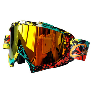 Męskie przeciwmgielne UV400 Motocross dla gogle motocyklowe Off Road wyścigi samochodowe maski okulary okulary przeciwsłoneczne okulary ochronne tanie i dobre opinie RZOJUNMA Jeden rozmiar Unisex MULTI