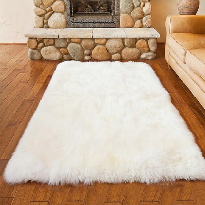 White Plush Carpet Bedroom Livingroom Carpet Children Crawing Rug Fluffy Soft Home Decor Colorful Living Room Floor Rugs