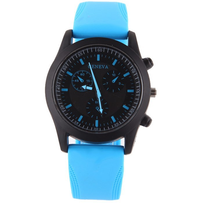 New Fashion Sport Casual Watch Men Women Pure Color Jelly Silicone Watches Students Elegant Wristwatches Clock