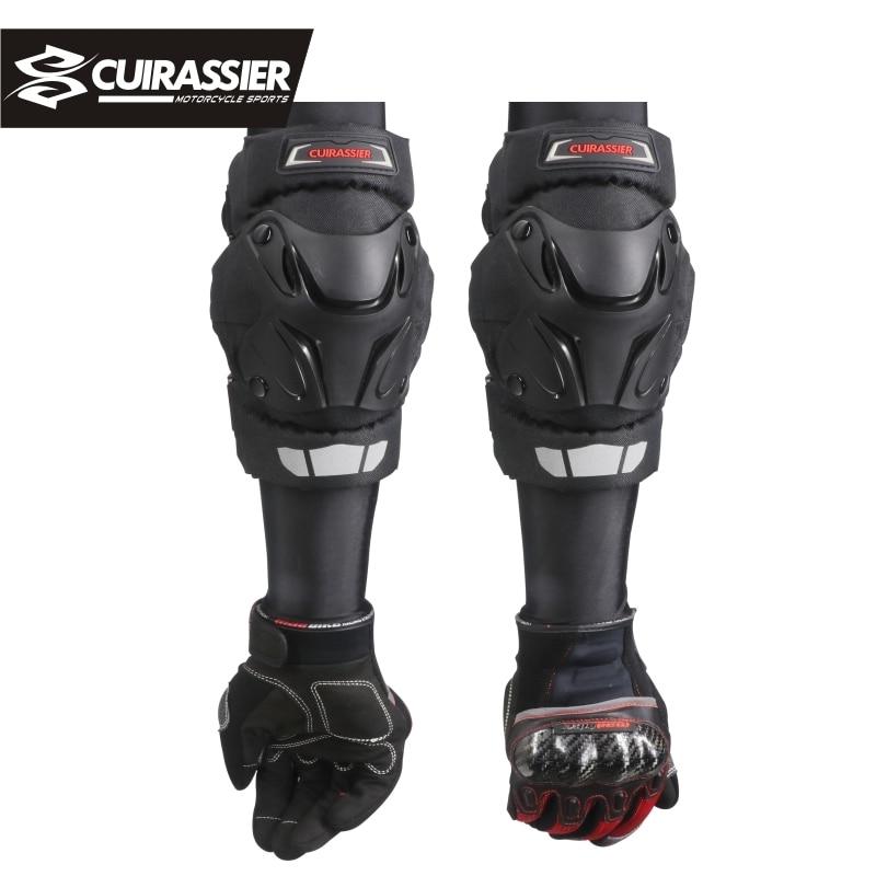 цена на Cuirassier Motorcycle Knee Elbow Pads Motocross Kneepads Protector Shin Guards protective Gears Paintball Skating Racing Riding