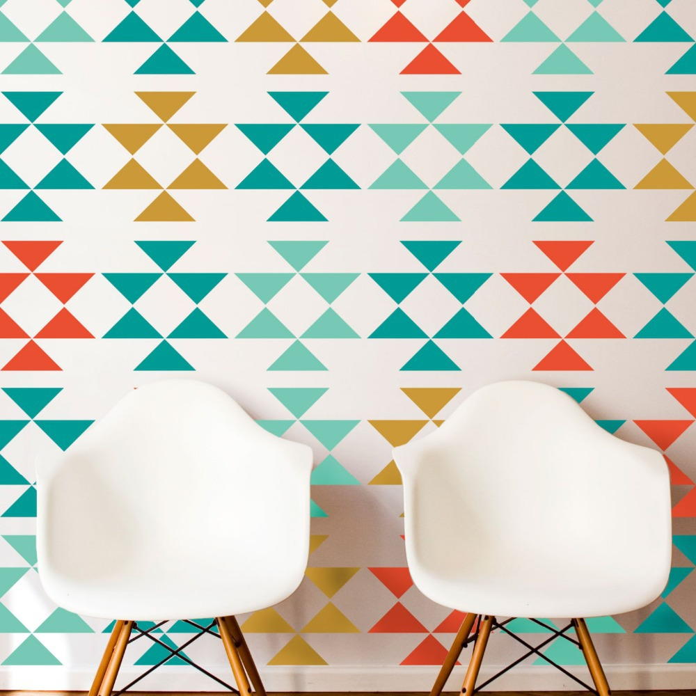 popular window big stickers buy cheap window big stickers lots 24pcs vintage mid century geometric tribal big triangles vinyl decal wall sticker for bar cafe remodelers