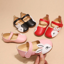 kid shoes Childrens casual 2019 autumn new girls cartoon rabbit soft bottom fashion square with