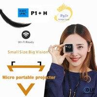 Оригинал UNIC P1 + H Plus Беспроводной мобильный проектор Поддержка Miracast DLNA карманный проектор домашний проектор мультимедийный проектор DLP Бата