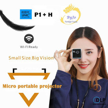 Original UNIC P1+H Plus Wireless Mobile Projector Support Miracast DLNA Pocket Proyector Home Movie Projector DLP Beamer Battery