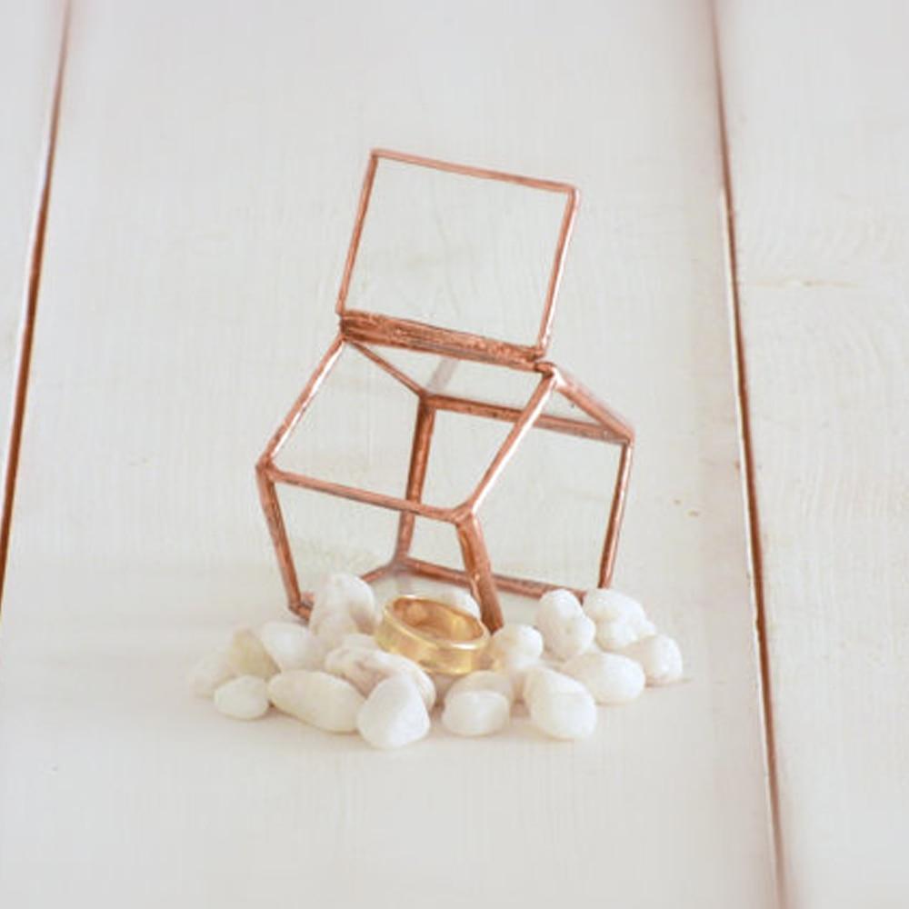 Mini Wedding Ring Box, Hinged & Lidded A Tresury Glass Box Terrarium, Ring