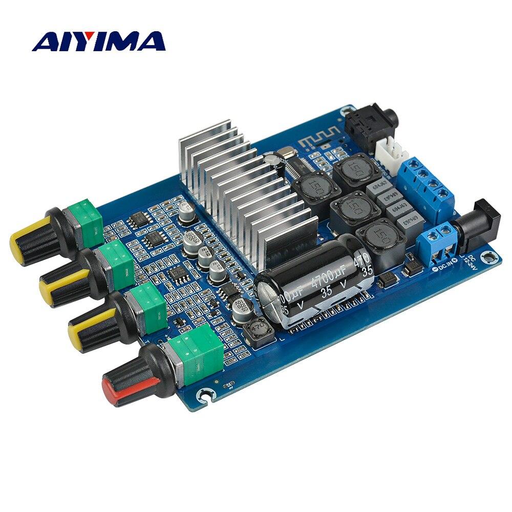 AIYIMA TPA3116 Bluetooth 4.2 Amplificador Digital Board 50 W * DC12-24V 2 Dual Channel Amplificador de Áudio 2.0 Com Ajuste de Volume