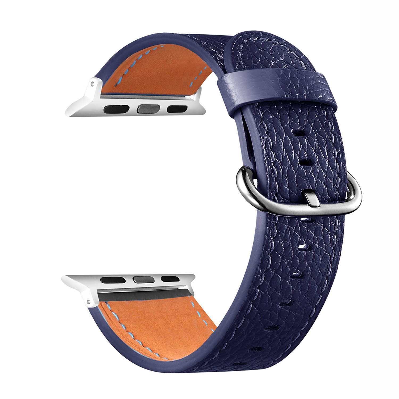 Eastar 8 di Colore Cinturino In Pelle per Apple Watch Band Serie 4/3/2/1 Braccialetto di 42 millimetri 38 millimetri Cinghia Per iwatch Fascia di 5/4 40 millimetri 44 millimetri