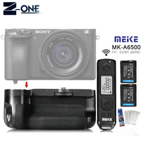 With Battery Meike MK A6500 Pro Battery Grip Built in 2.4Ghz Remote Controller for Sony A6500 Rremote Control Vertical Shooting|Battery Grips|   -