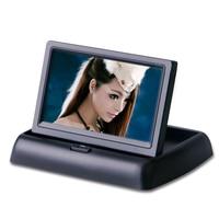 Foldaway 4 3 4 3 Inch TFT LCD Display Monitor Car DVD Players LCD Monitor Color