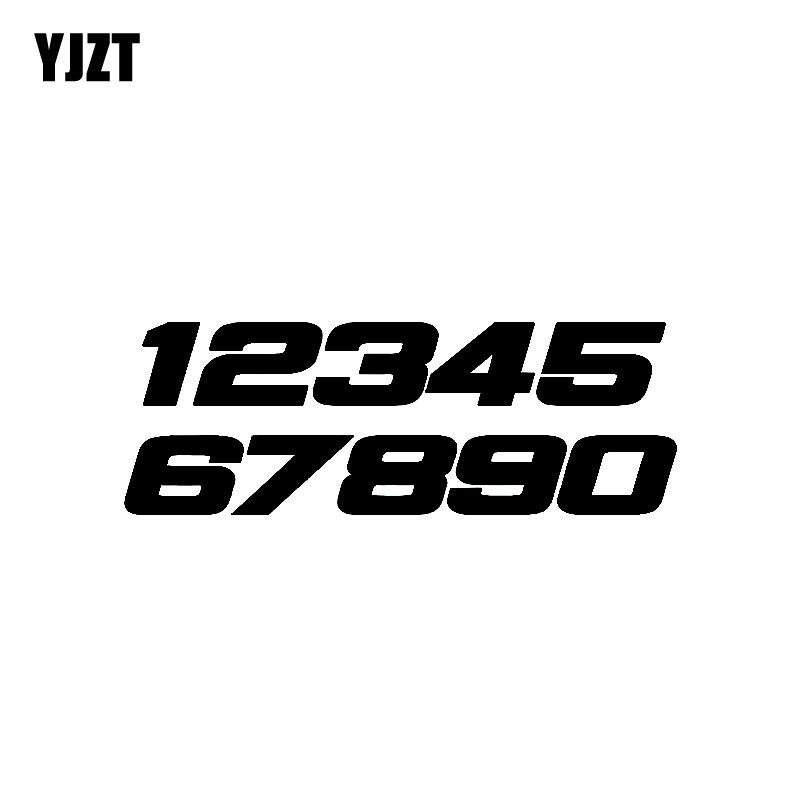 YJZT 15.5CM*5.4CM Fun Phone Number 1234567890 Motorcycle Vinyl Decal Graphical Black/Silver Car Sticker C11-0761