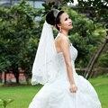 TS1005cut edge one-layer veil bride bridal veils voile mariage schleier bridal veil ivory velo de novia voile de mariee