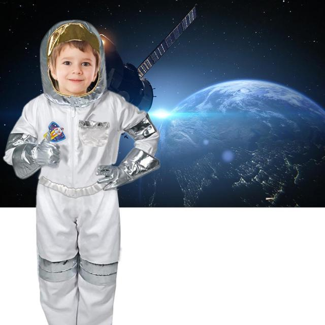 4 pcs/set children's  astronaut costume role play for Halloween Holiday Cosplay for 3-6 years child kids 2018 newest