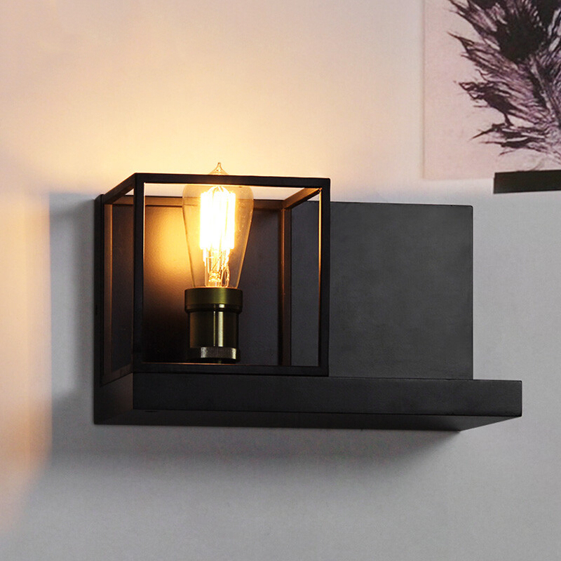 Vintage Wall Lamp LED Wall Sconces Bedside Living Room Stair Aisle Bedside Cafe Bedroom Lamp Iron Wall Sconce Light Fixture in LED Indoor Wall Lamps from Lights Lighting
