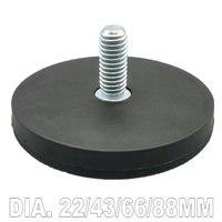 Magnetic Disc Dia 22 43 66 88mm LED Light Holding Male Thread Spotlight Holder NdFeB Magnet