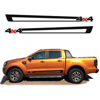 custom for Ford ranger car stickers 2PC side door cool racing 4x4 stripes graphic Vinyls car modified accessories personal decal
