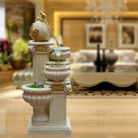 Fashion fish pond fountain water control water features feng shui home wheel decoration crafts decoration