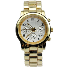 2016 Hot Sale relogio feminino Silver and Gold Plated Classic Round Ladies Boyfriend Watch gold branded women watches