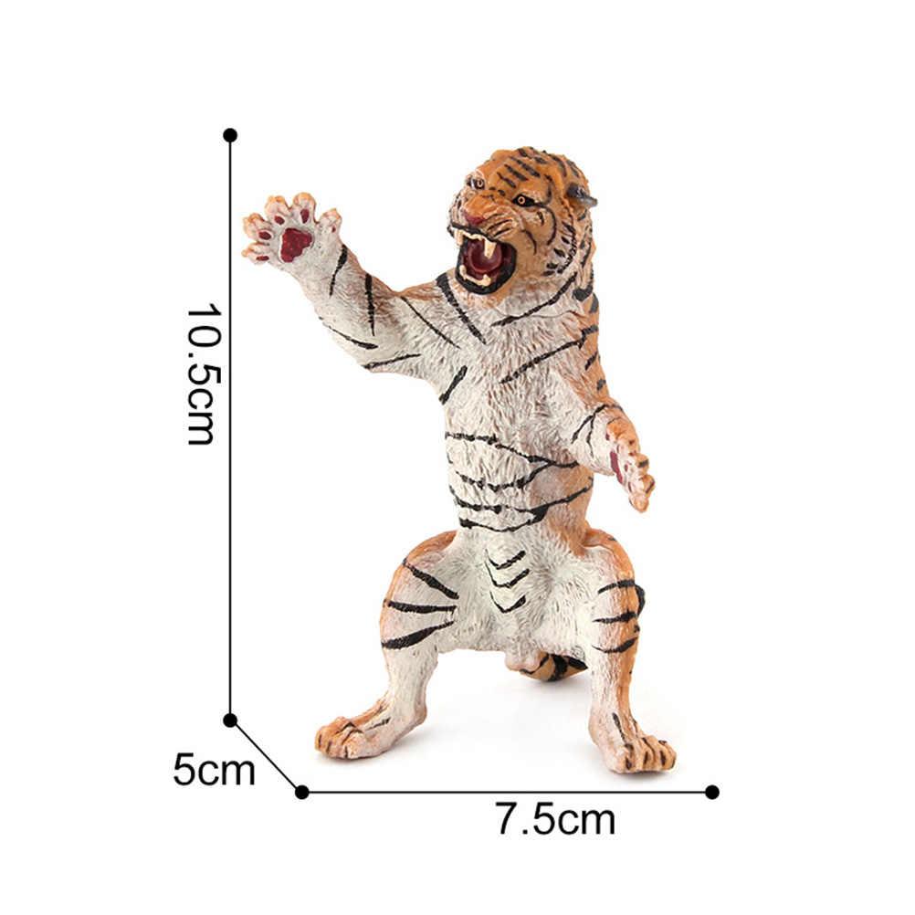 3pcs Figuras de Animais Artificial Simulado Cognitiva Educacional Tigre PVC Modelo Modelo Animal para Crianças Crianças Meninas Meninos