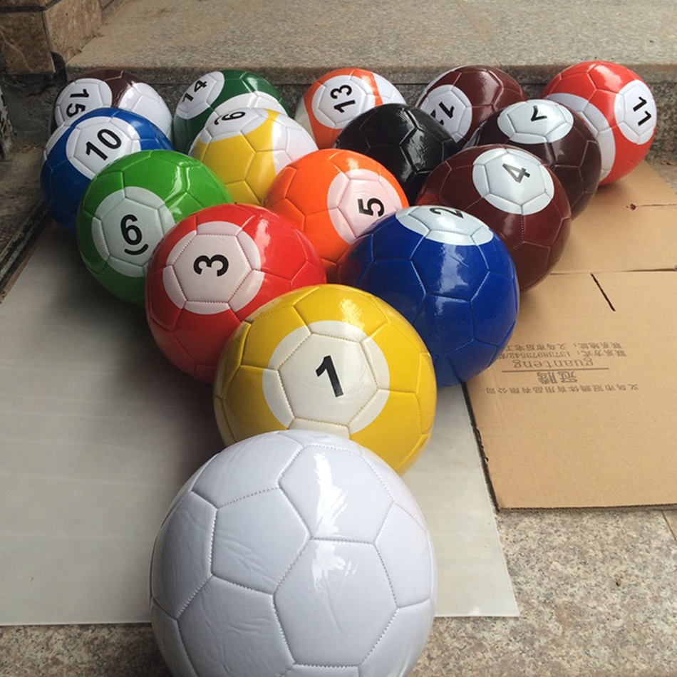 16Pcs lot Street Game ball Football Full Set Gaint Snook Ball Sport Toys Poolball Size 2