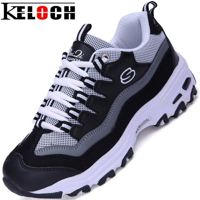 Keloch Новых Прибыть Резина 2016 Женщин Повседневная Обувь Женщина Дышащая Моды Сетки Обувь Удобную Chaussure Femme