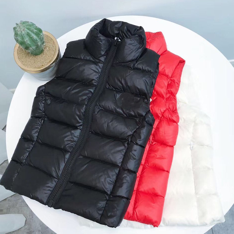 kid down jacket vest black/red coat for boys girls autumn warm down clothes for kids' height 100-150 cm in stock ruffled button down blouse in black