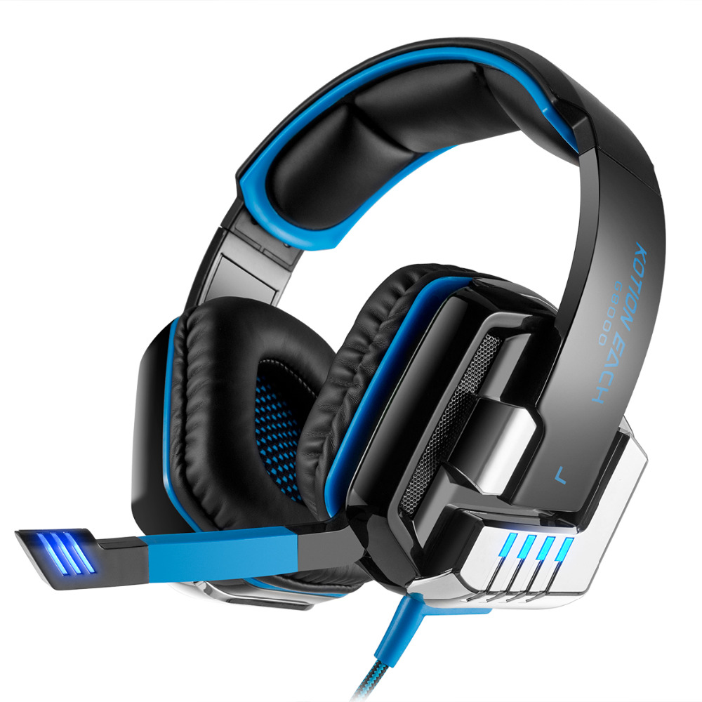 NIYOQUE EACH G8000 Computer Stereo Gaming Headset casque Deep Bass Game Earphone Headphone with Mic LED Light for PC Gamer rock y10 stereo headphone microphone stereo bass wired earphone headset for computer game with mic