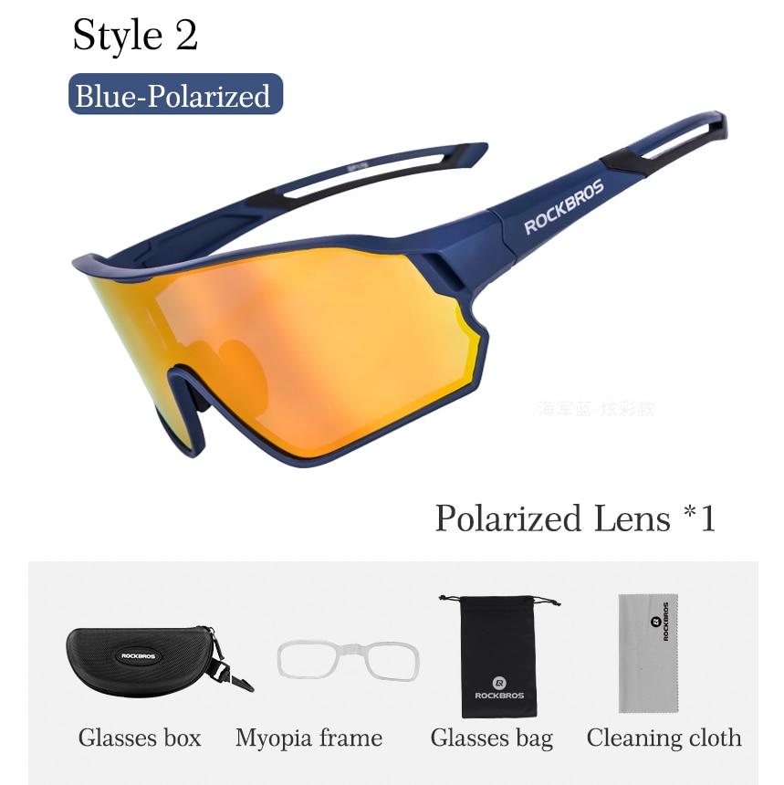 Cycle Polarized Eyewear Glasses Bicycle Cycling Sunglasses Mountain Bike 5 Lens