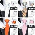 20 Laços Dos Homens do Estilo Novo Jacquard Gravatas De Seda Da Marca Quadrado Bolso abotoaduras com Caixa de Presente Saco Corbatas Gravata Para Homens Clássicos
