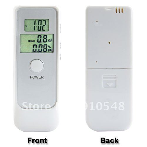 Breathalyzer Alcohol Tester - Dual LCD Display