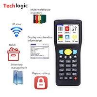 Techlogic E0589 Mini Bar Code Scanner Wireless Barcode Reader Handheld Terminal PDA Warehouse Inventory Barcode Scanner Bar Gun