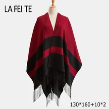 Cashmere blanket scarf women poncho winter wool  Stoles pashmina shawl female Long Cotton for warm