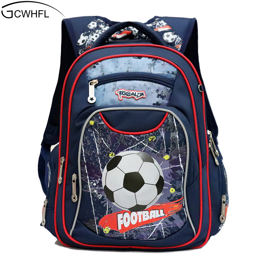 Gcwhfl New Fashion Orthopedic Kids School Bags For Boys Backpack Kid Waterproof Primary School Backpacks Children Grade 1-3