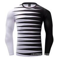 Imprimé commerce extérieur express hommes hommes à manches longues hommes de T-shirt de sport fitness hommes séchage rapide vêtements.