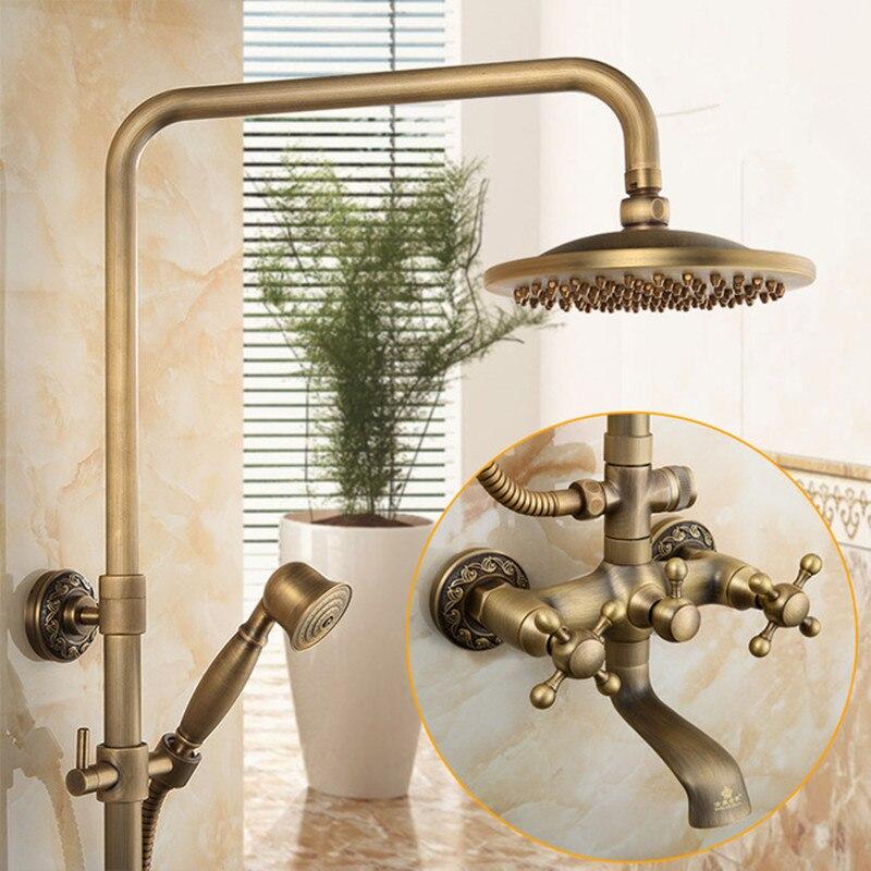Mitigeur de douche classique en laiton massif pomme de douche en laiton ensemble de douche robinet de douche