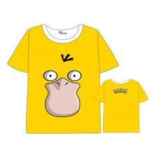 Hot Anime Pokemon Psyduck T-shirt Men Women Short Sleeve Summer dress Cosplay Costumes  Tops Unisex t shirt